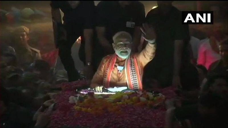 Prime Minister Narendra Modi Mega Road Show In Varanasi