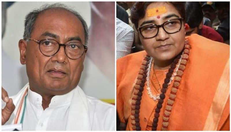 Sadhvi pragya is ahead from digvijay singh on Bhopal seat exit poll Madhya Pradesh