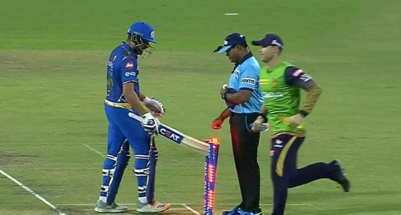 Mumbai Indians captain rohit sharma fined for Breaching Code Of Conduct