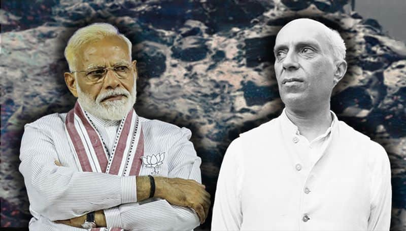 What happened in 1954 that made Narendra Modi angry and blame Nehru