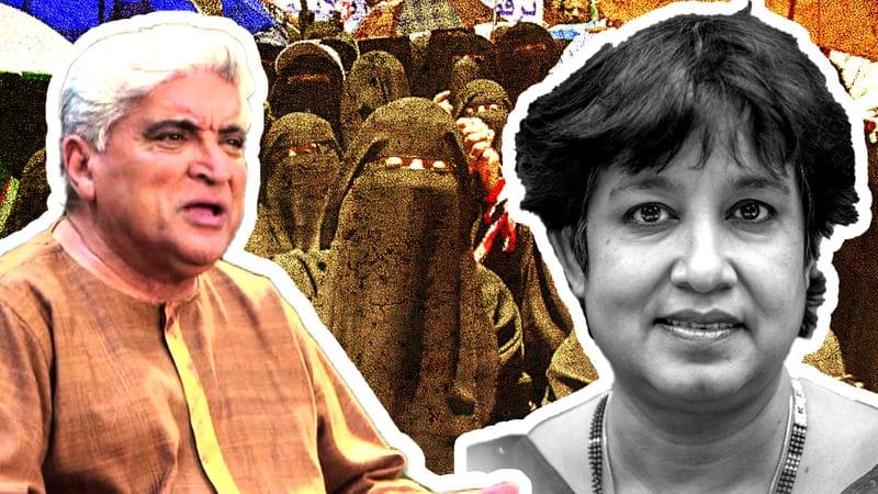 Javed Akhtar wants ghoonghat ban before burqa, Taslima says it will stop women from being faceless zombies