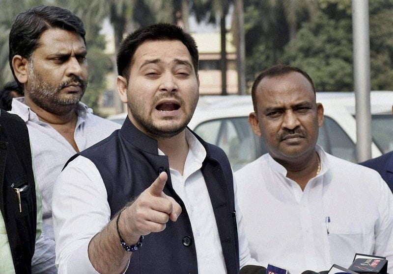Tej pratap did not get seat in helicopter with tejashwi yadav