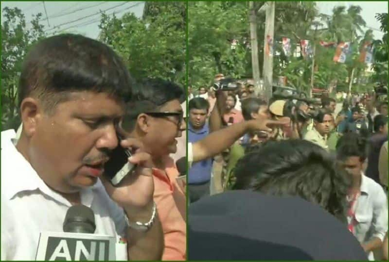 TMC worker attacked bjp candidate in barrackpore west bengal, injured