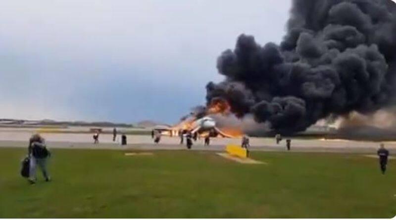 RUSSIAN PLANE CATCH FIRE 41 KILLED