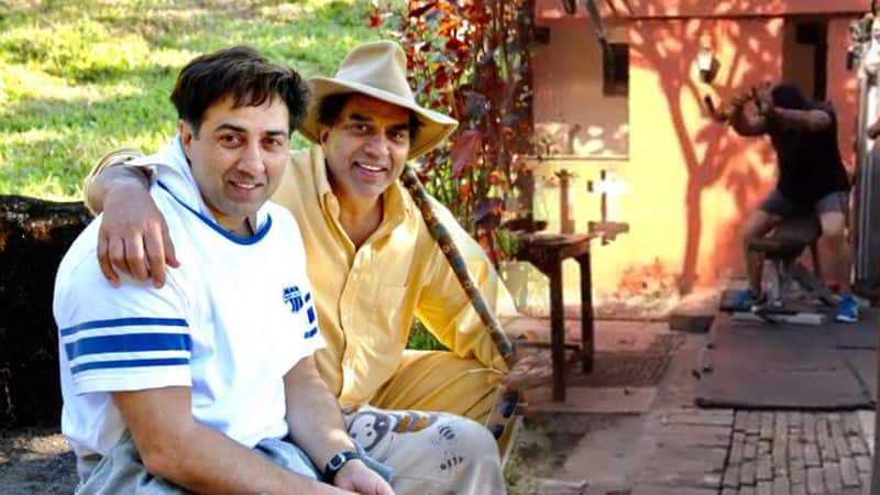 dharmendra shares sunny deol workout video