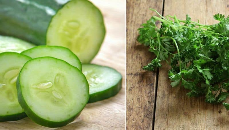 a special cucumber juice to reduce belly fat