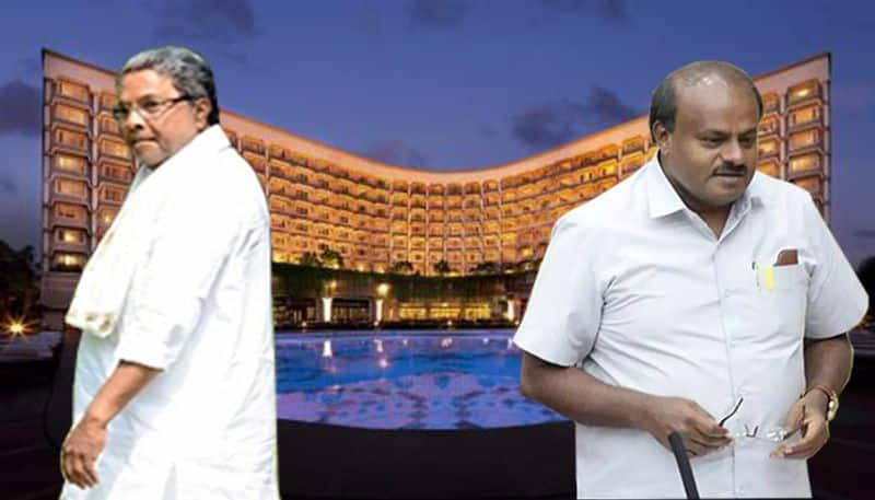 Kumaraswamy fails to meet brother Siddaramaiah despite being in same hotel clash of egos says BJP