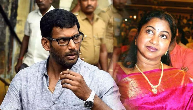 vishal personally meets radhika sarathkumar