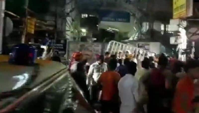 BJP trinamool congress clash in  kolkatta