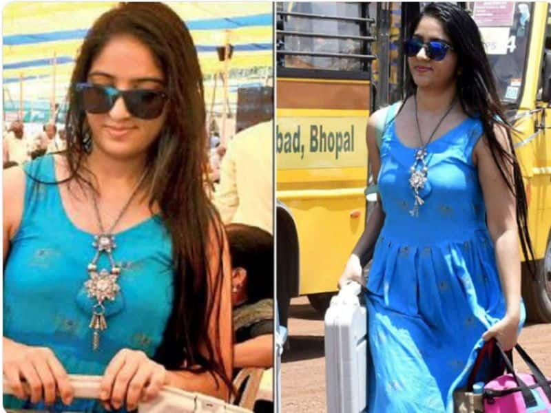 Viral as 'the woman in blue' nad Yellow , bank officer Yogeshwari Gohite and Reena Dwivedi is stunned  polling-day