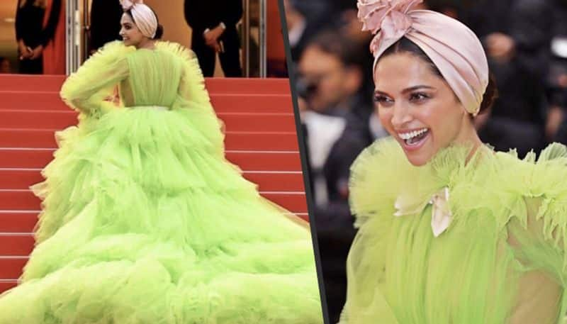 Cannes 2019: Deepika Padukone adorns a parrot look in ruffled lime green gown
