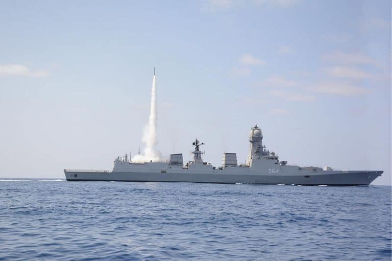 Indian navy successfully test fired MRSAM from western coast