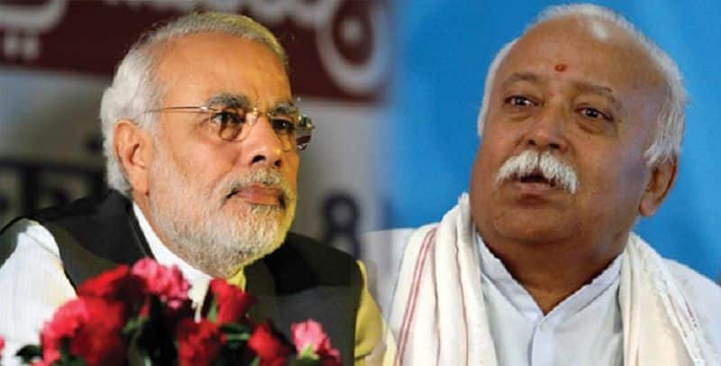 Pm narendra modi today meet to RSS chief Mohan bhagwat
