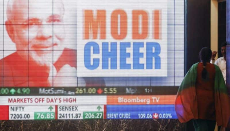 Bse sensex rally on chances of narendra modi government in election results