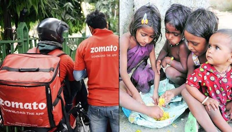 Zomato delivery boy feeds underprivileged kids with food from cancelled orders