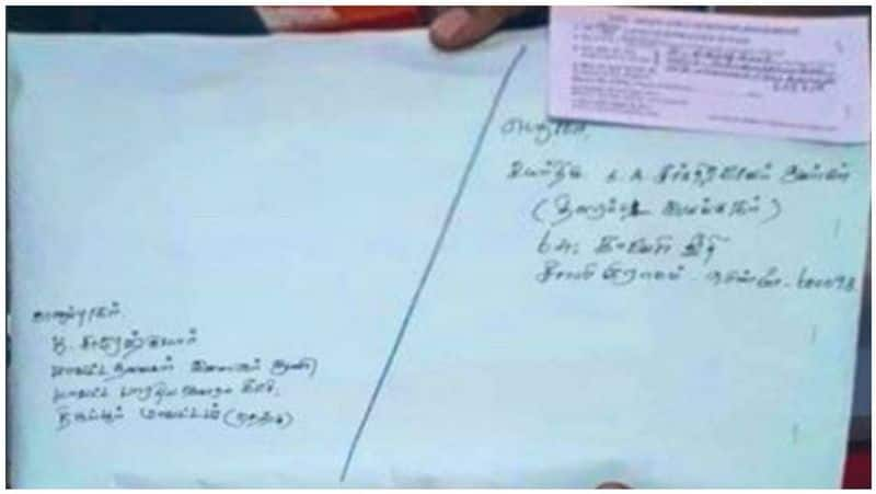 Vijaya's father sent a parcel to the BJP youth