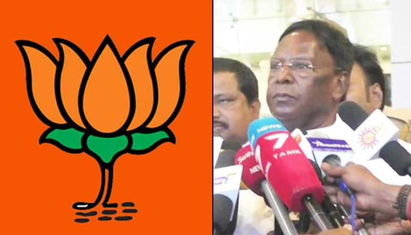 Puducherry CM Narayanasamy accuses BJP forgetting Tamil Nadu party says open your eyes