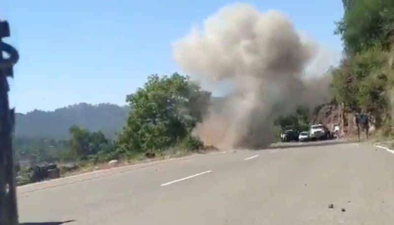 A highway could have blown up, army spot and destroys explosive