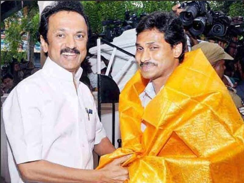 Participating in one stage  MK Stalin with  Modi