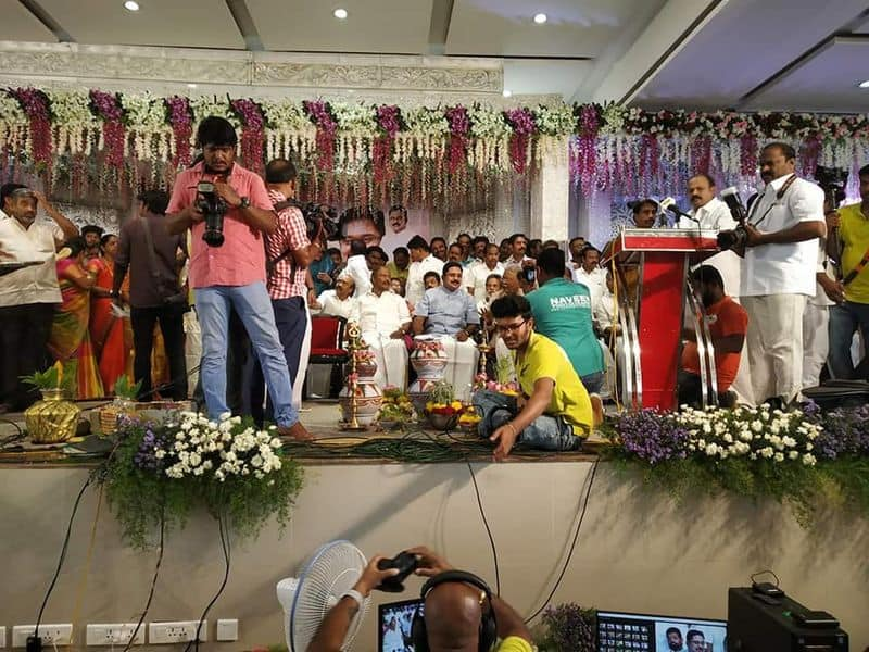 Dinakaran commends at marriage hall