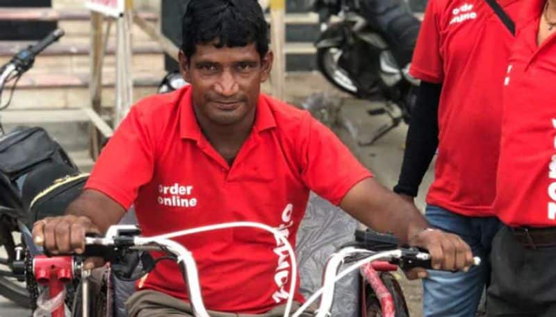 Zomato gifts electric vehicle differently abled delivery agent New Delhi wins hearts social media
