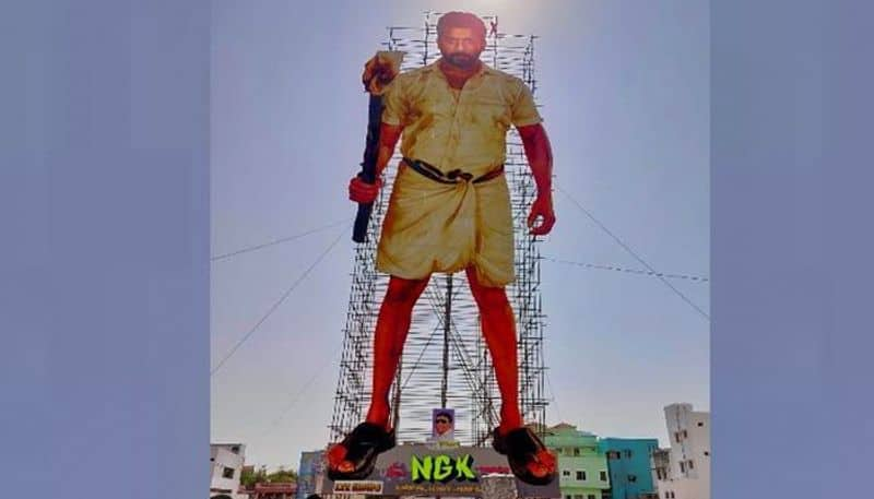 Checkout 'world's largest cut-out' erected for Suriya in Tamil Nadu
