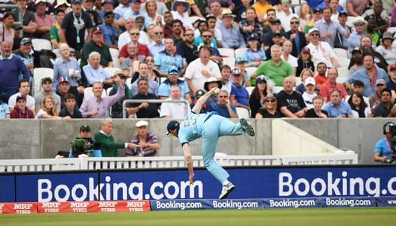 Watch Ben Stokes takes stunning catch World Cup 2019 Twitterati laud England all-rounder
