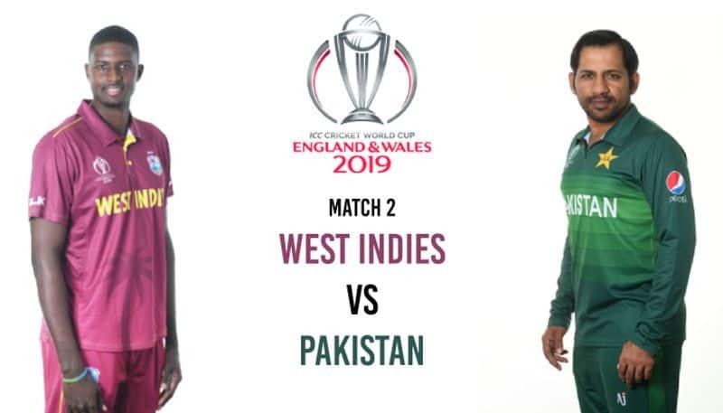 ICC World Cup second match Pakistan vs West Indies