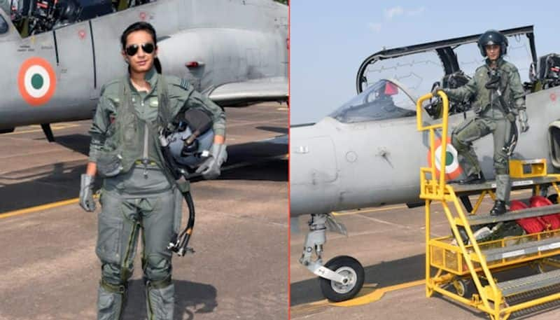 Flight Lieutenant Mohana Singh becomes India's first woman fighter pilot to fly Hawk advanced jet
