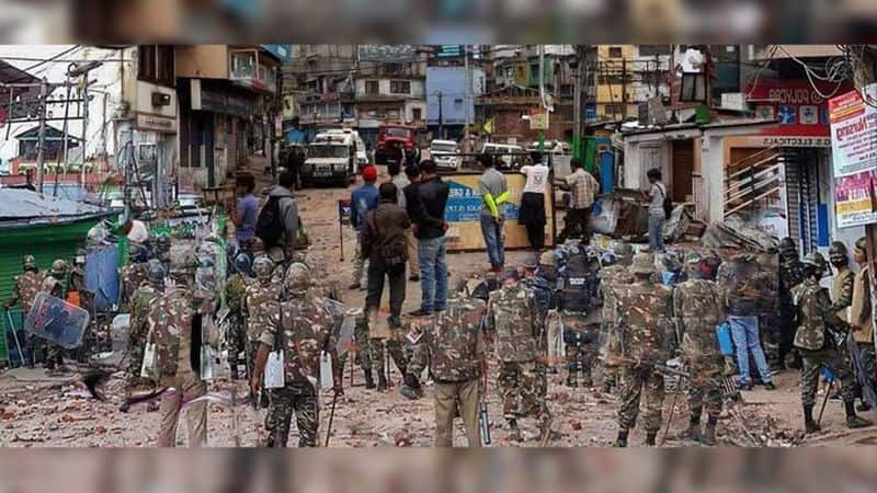 communal riots in congress ruled rajasthan capital jaipur