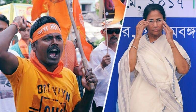"After Mamata, now her minister's face ""Jai Shri Ram"" protest in Bengal"