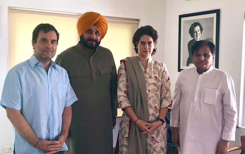 Navjot singh sidhu meet to Rahul Gandhi  recent rift over with captain amarinder singh