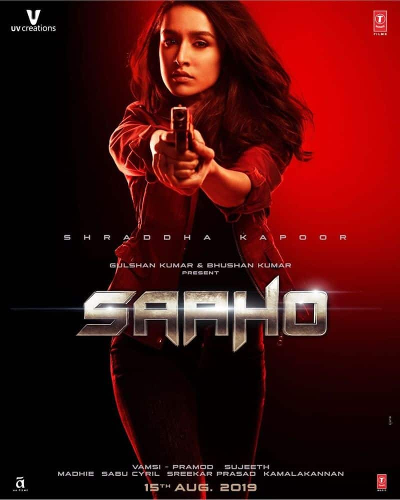 sahoo movie second poster released shows shraddha kapoor in new avatar