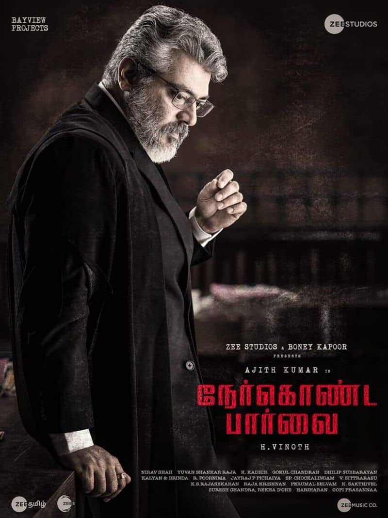 Nerkonda paarvai trailer Hash tag in number one