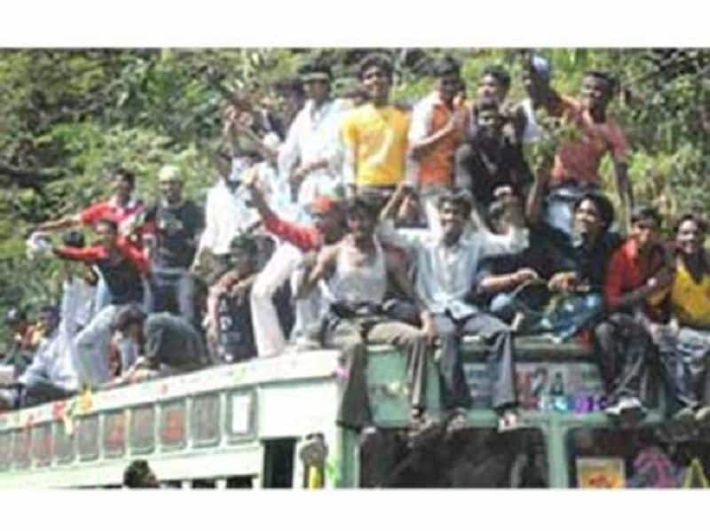 Bus day celebration by students in chennai