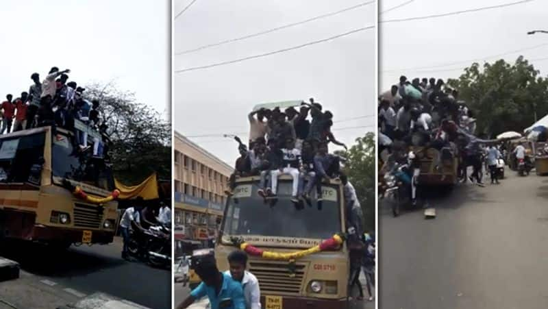 students attitude is very worst in bus day