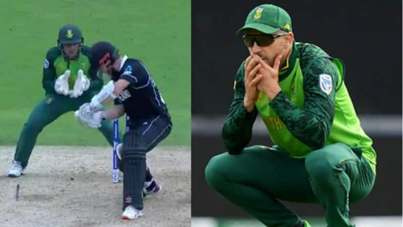 du plessis speaks about missed to taked drs for williamson wicket