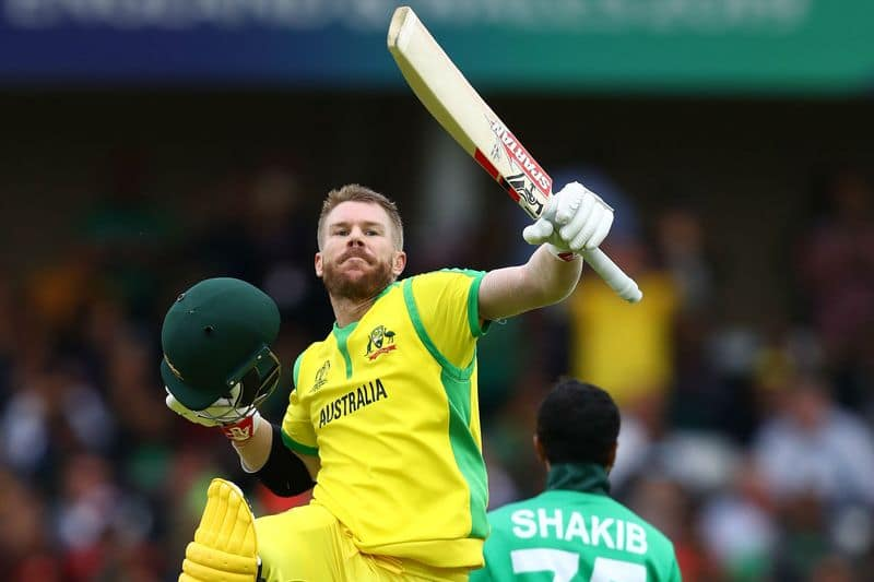 warner has done lot of records by a ton against bangladesh in world cup
