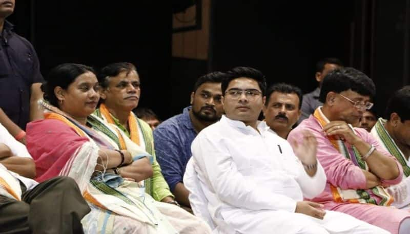 TMC MP Abhishek Banerjee encourages youth TMC supporters in south 24 parganas