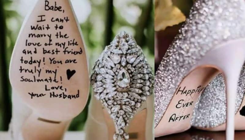 brides customised their wedding footwear
