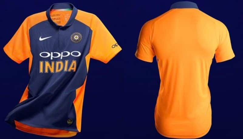 Official Nike unveils India orange jersey England game World Cup 2019