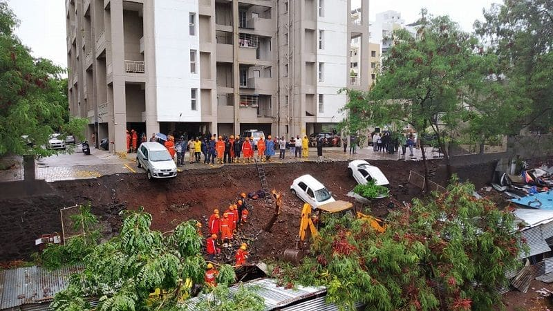 14 people have died in Kondhwa in pune wall collapse incident. rescue operation is underway