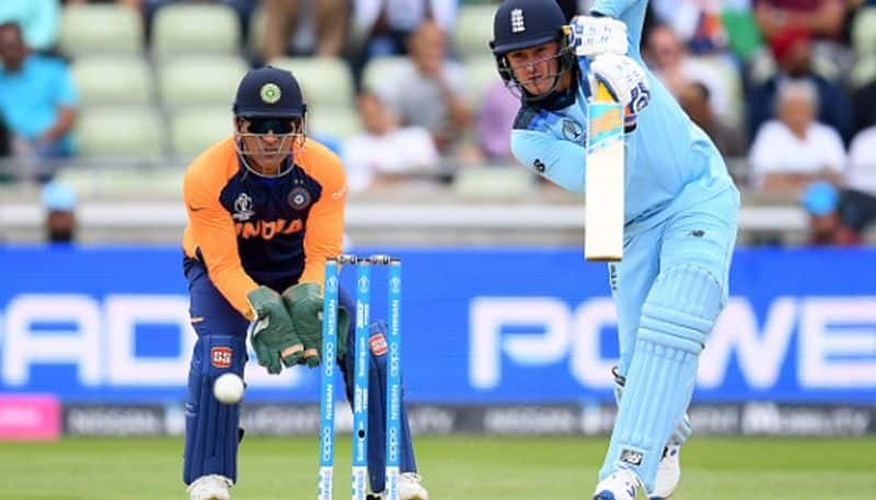 jason roy used his missed wicket oppotunity and score fifty against india