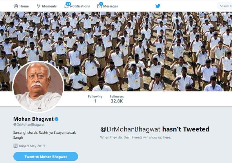 RSS Chief Mohan Bhagwat 6 Top Sangh Leaders Join Twitter