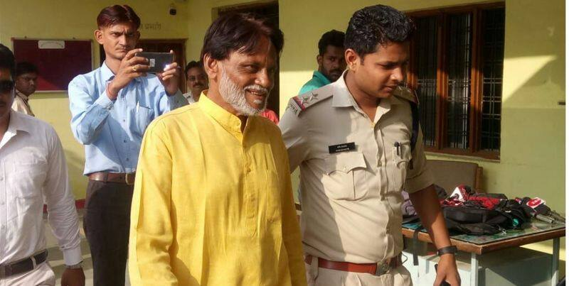rape accused politician of betul was Laughing during surrender in police station