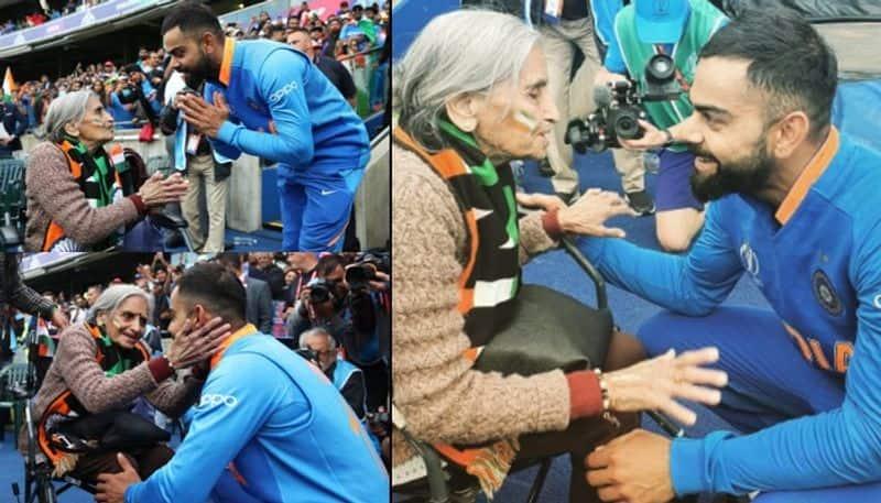 World Cup 2019 Charulata Patel 87 year old India fan Kohli Rohit meet