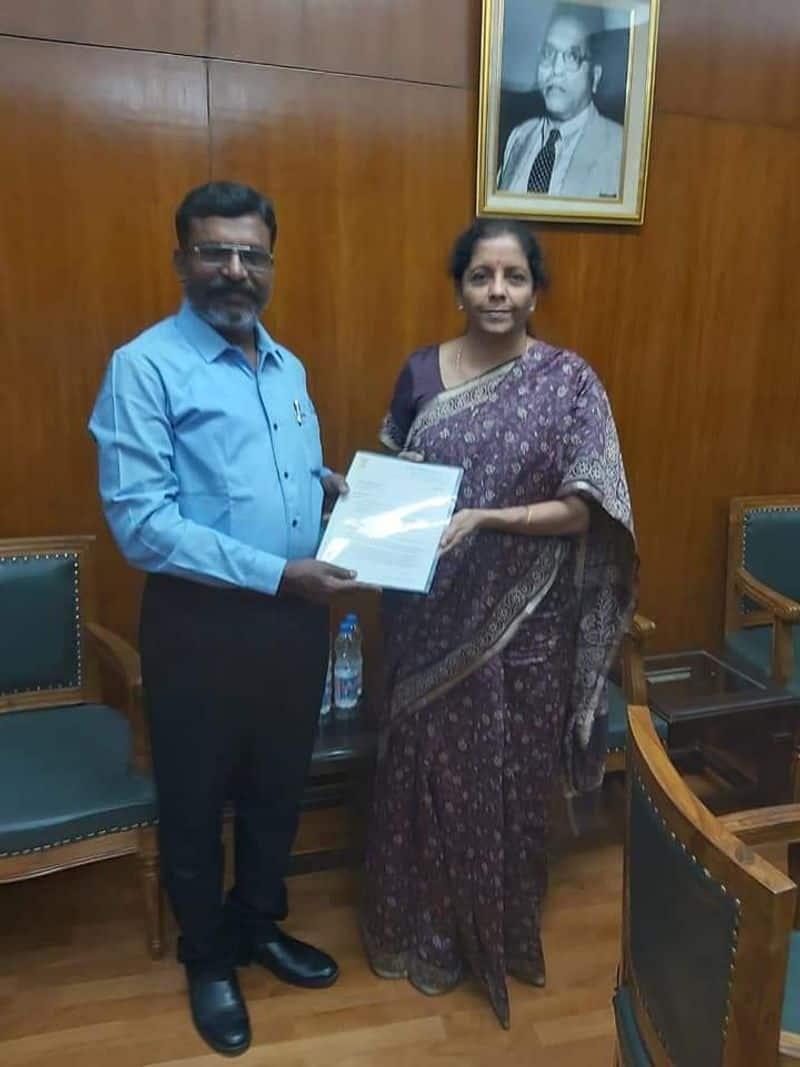 thirumavalavan meets Nirmala seetharaman