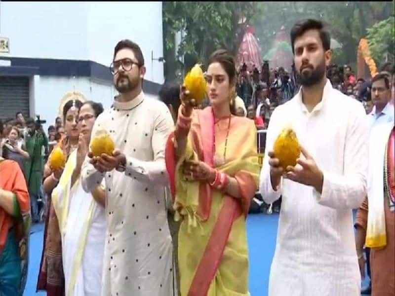 Ulema issued fatwa against Nusrat jahan after participate aarti in kolkata