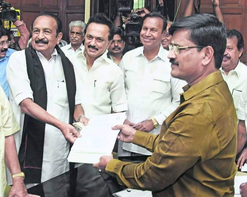 Vaiko oath as MP in Rajya shaba after 23 years
