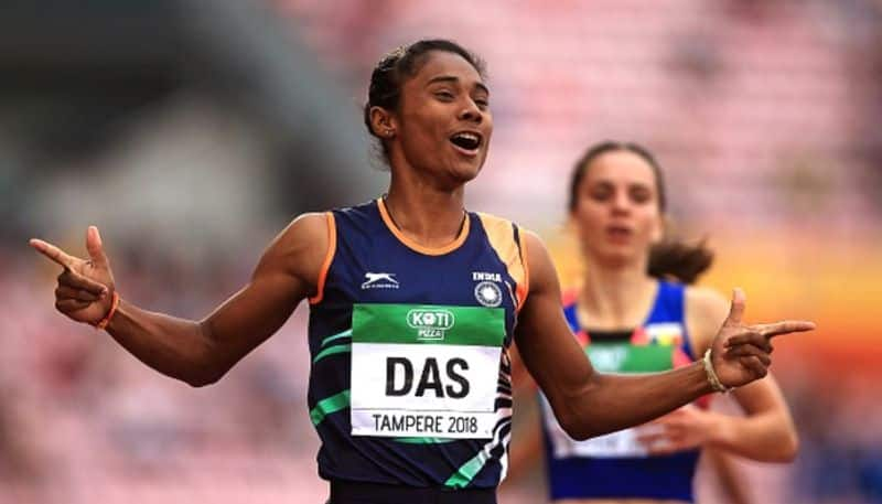 Hima Das and Mohammad Anas won gold medals